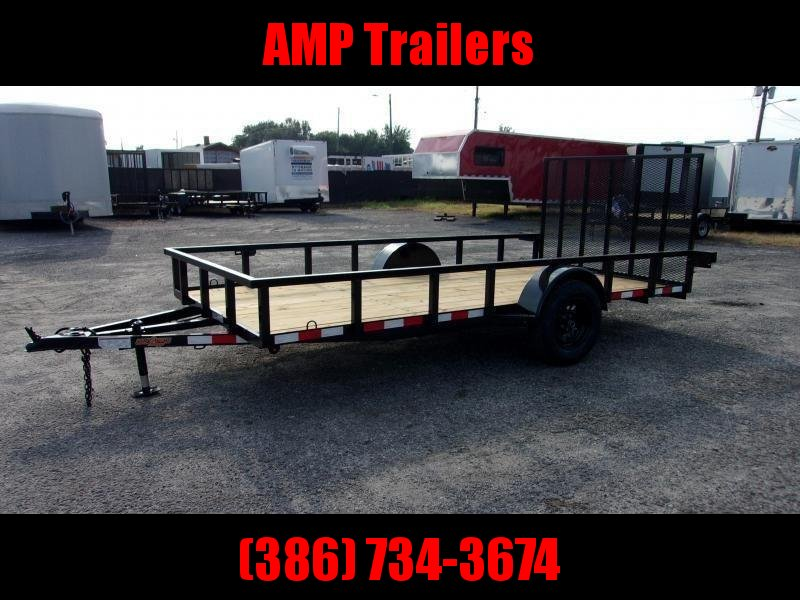 "2020 Down to Earth 76""x14' Single Axle Utility *DOVE TAIL"