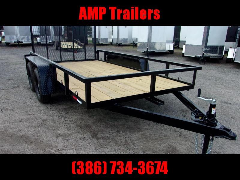 2019 AMP Trailers TANDEM AXLE 76X12 Utility Trailer