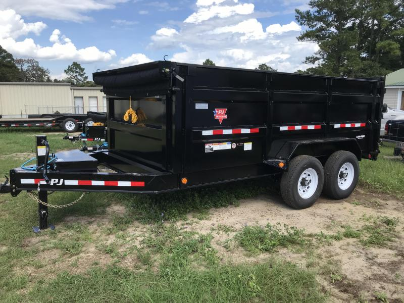 "2020 PJ Trailers 83""x14'x48"" DM Low-Pro Dump Trailer"