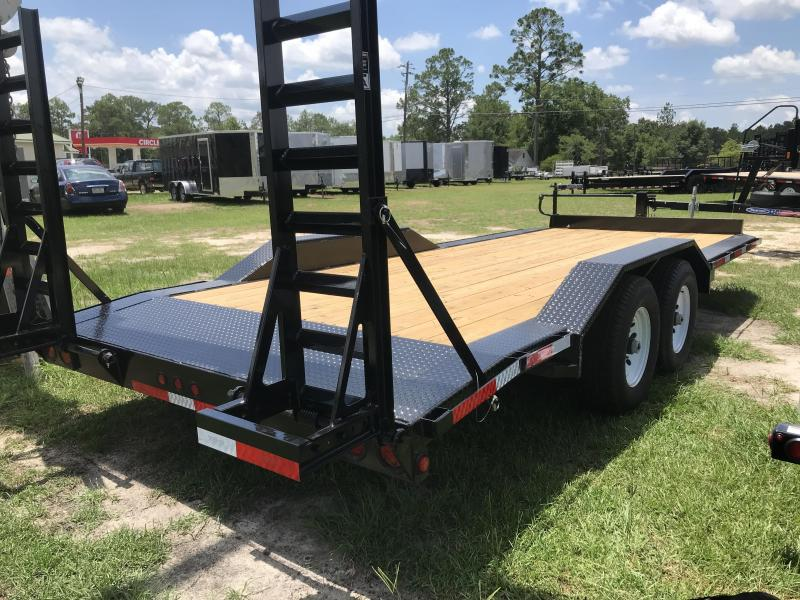 2019 Top Hat Trailers 102x20 WIDE DRIVE OVER Equipment Trailer