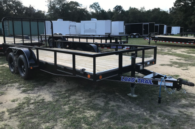 2020 Load Trail 83x16 Car Hauler w/ Side Rails Equipment Trailer