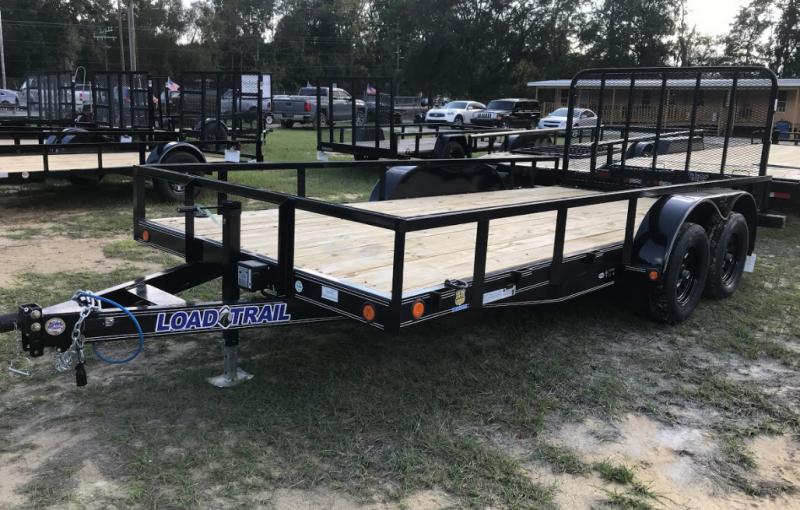 2020 Load Trail 83x16 Car Hauler w/ Side Rails Equipment Trailer