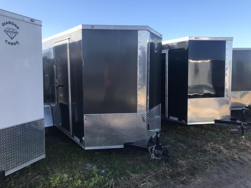 2020 Diamond Cargo 6x12SA Enclosed Cargo Trailer