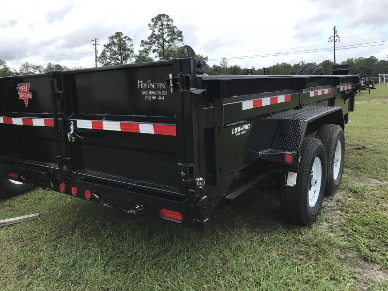 2020 PJ Trailers 83x16 DL Low Pro Dump Trailer