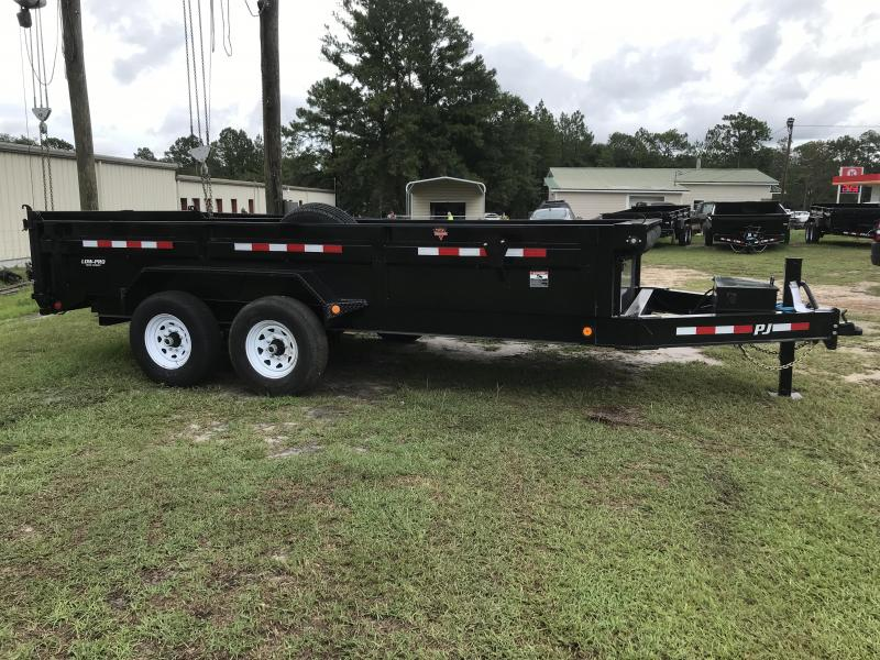 2020 PJ Trailers 83x16 DL Low Pro Dump Trailer