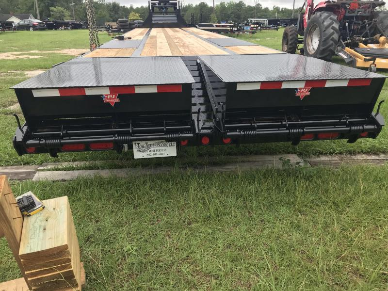 "2020 PJ Trailers 102""x40' LD Low-Pro Flat Deck with Monster Ramps"