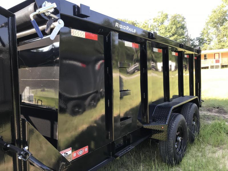 2019 Lamar Trailers 83x14 Gooseneck Low-pro Dump Trailer