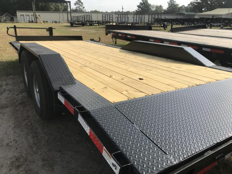 2020 Top Hat Trailers 102x20 WIDE DRIVE OVER 14k Equipment Trailer