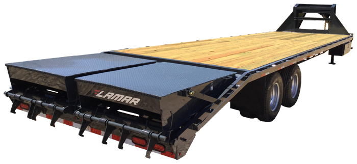 2019 Lamar Trailers 30 GN 2x10 Flatbed Trailer