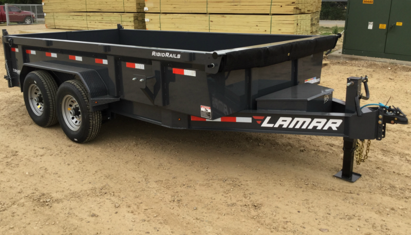 2019 Lamar Dump Trailer w/ 7 Gauge Floor