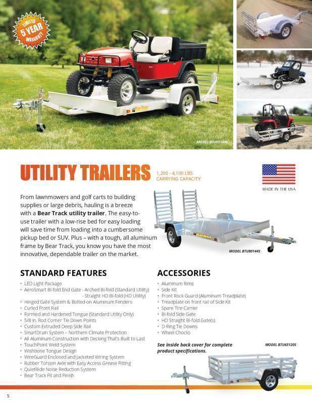 2020 Bear Track 6.5x14 Utility Trailer