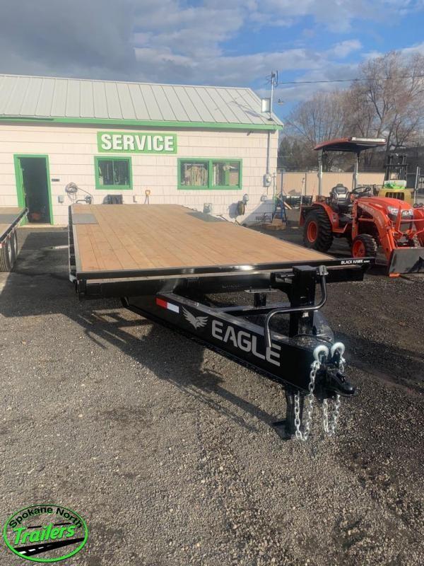 2020 Eagle Trailer 8.5x24 Black hawk 14K Equipment Deckover