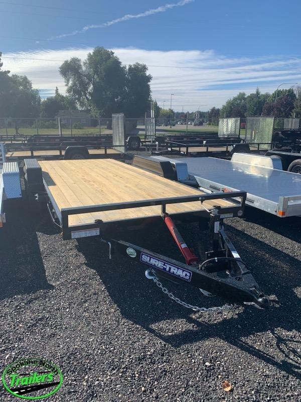 2020 Sure-Trac 7X18 10K (Manual) Tilt Bed Car Hauler/ Racing Trailer