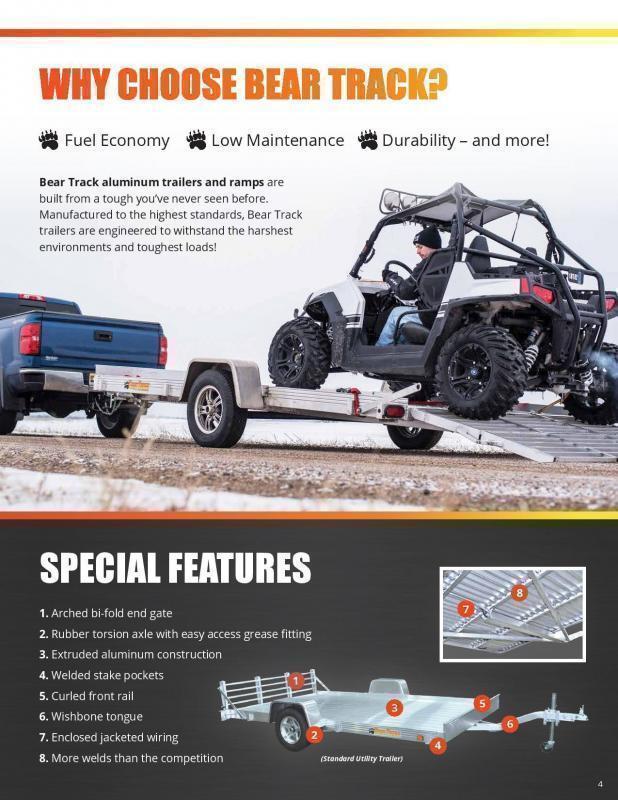 2019 Bear Track 7x10 Utility Trailer