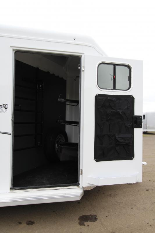 "NEW 2019 Trails West Classic 3 Horse Trailer - UPGRADED 7'6"" Tall - Escape Door - Lined and Insulated Horse Area Roof - Swing Out Saddle Rack"