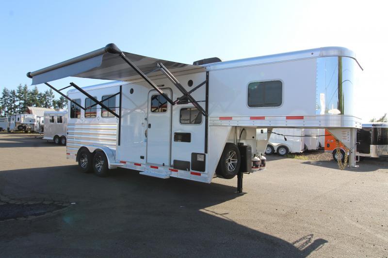 2020 Exiss 7306  - 3 Horse Trailer - 6' Short Wall L.Q. - Upgraded Interior - Easy Care Flooring - All Aluminum
