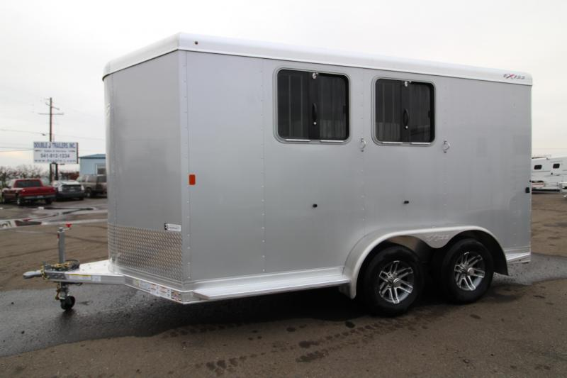2020 Exiss 720 BP Horse Trailer - Easy Care Flooring - Fold Up Rear Tack