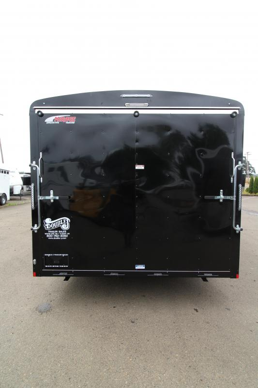 NEW 2019 Mirage Xcel 8.5' x 20' Enclosed Car Hauler Trailer - Domed Roof- Radius Front - Spare Tire - Side Vents - Black Exterior Color  - Tandem Axle