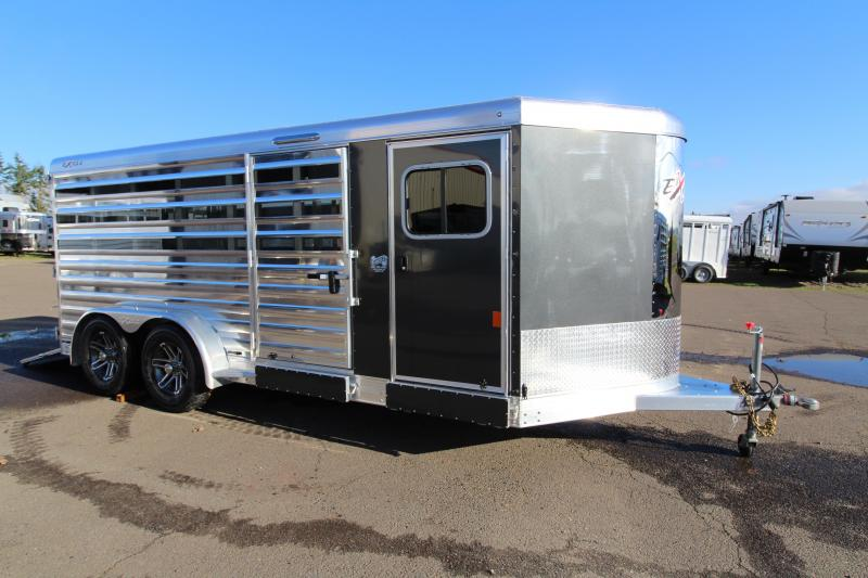 NEW 2019 Exiss 716A Exhibitor Low Profile Stock Combo Trailer - All Aluminum - Convertible Pen System - Low Profile