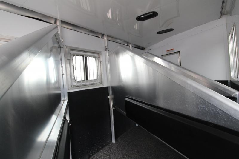 2019 Exiss 7410 - 4 Horse Trailer - 10' SW LQ - Fold Down Bunk - Onan Generator - Hay Rack - Ramp - Easy Care Flooring - Folding Rear Tack