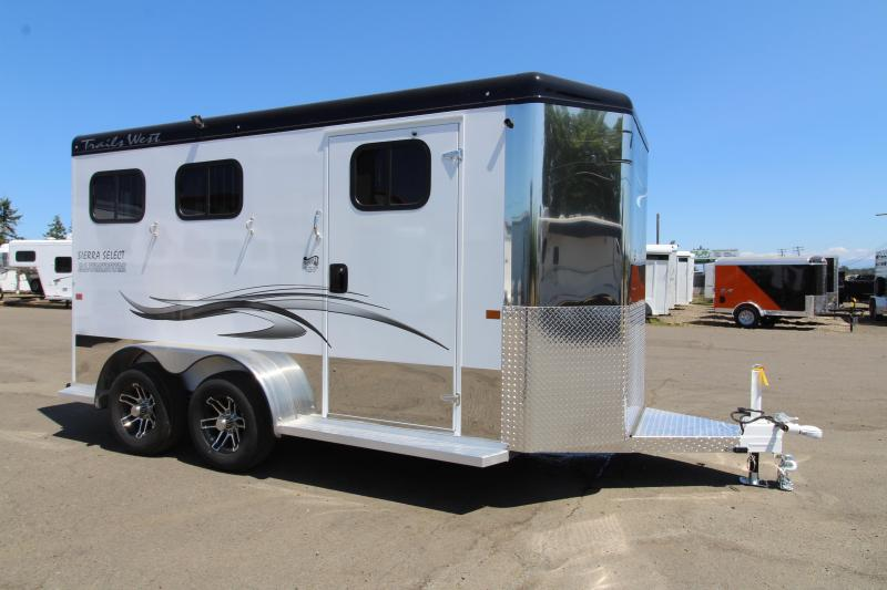 2020 Trails West Sierra Select 2 Horse Trailer - Vacuum Bonded Construction - Swing Out Saddle Rack - Fully Lined and Insulated