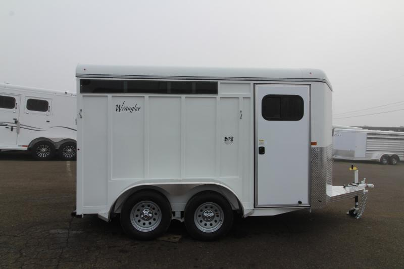 2020 Thuro-Bilt Wrangler 2 Horse Trailer - Swing Out Saddle Rack - Swing Slant Wall - Telescoping Dividers UPGRADED Water Tank
