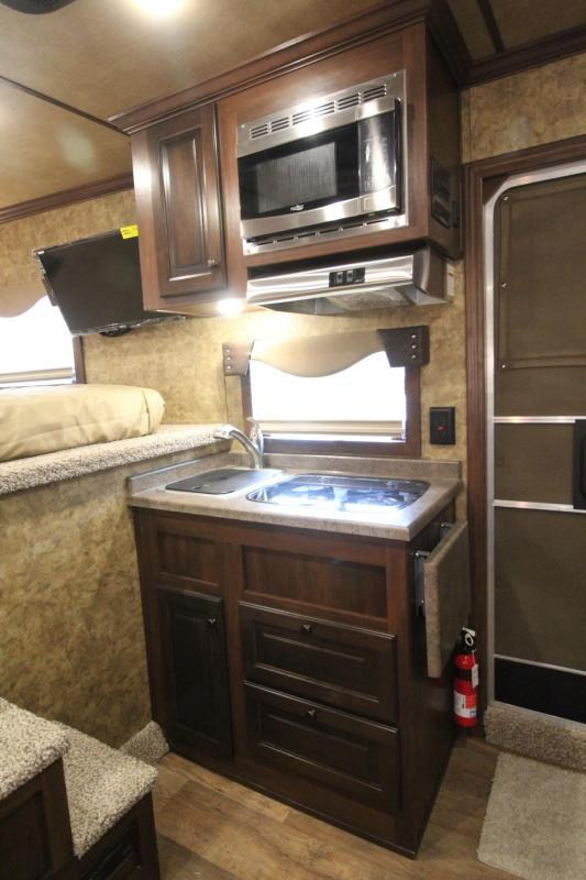 2019 Exiss Endeavor 8410 - 10' Short Wall Living Quarters 4 Horse Trailer Slide-out Easy Care Flooring Lined & Insulated Tons of Upgrades! PRICE REDUCED $3090