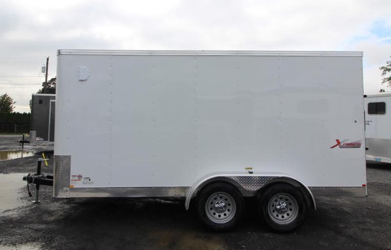 2020 Mirage Xpres 7x14 TA Enclosed Cargo Trailer - Xtra package, Rear ramp door, V nose - Flat roof