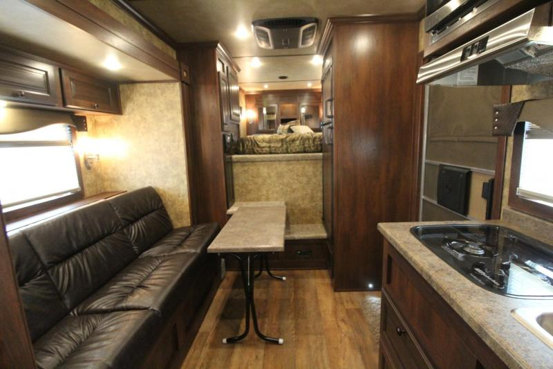 """2019 Exiss Trailers Escape 7310 - 10'6"""" Short Wall Living Quarters w/ Slide 3 Horse Trailer PRICE REDUCED - All Aluminum - Easy Care Flooring"""