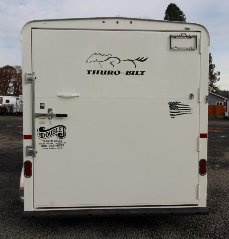 2020 Thuro-Bilt Shilo 2 Horse Trailer w/ Drop Down Windows - Upgraded Axles - Spare - Added Length to Trailer