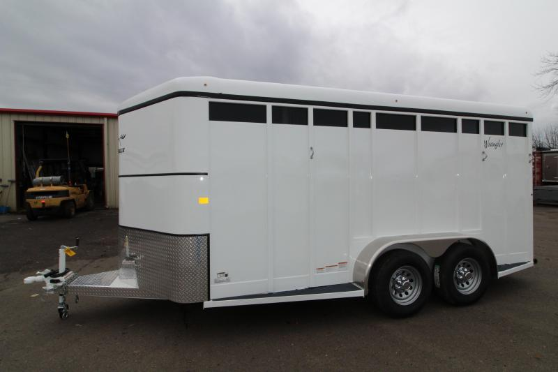 NEW 2019 Thuro-Bilt Wrangler Plus 3 Horse Trailer - Fully Enclosed Tack Room - Plexiglas Inserts - Swing Out Saddle Rack