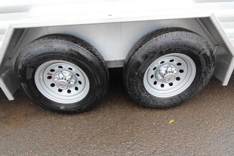 2020 Exiss STK 716 Livestock Trailer- All Aluminum Construction -Upgraded 5200 Rubber Torsion Axles - Spare Tire