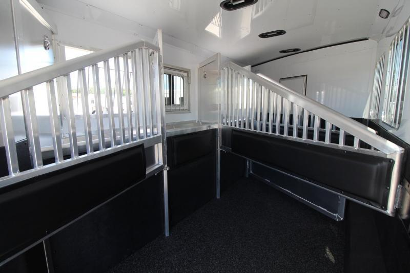 2019 Exiss Endeavor 8410 - 10' Short Wall Living Quarters 4 Horse Trailer Slide-out - Generator - Easy Care Flooring Lined & Insulated Tons of Upgrades! PRICE REDUCED $3090
