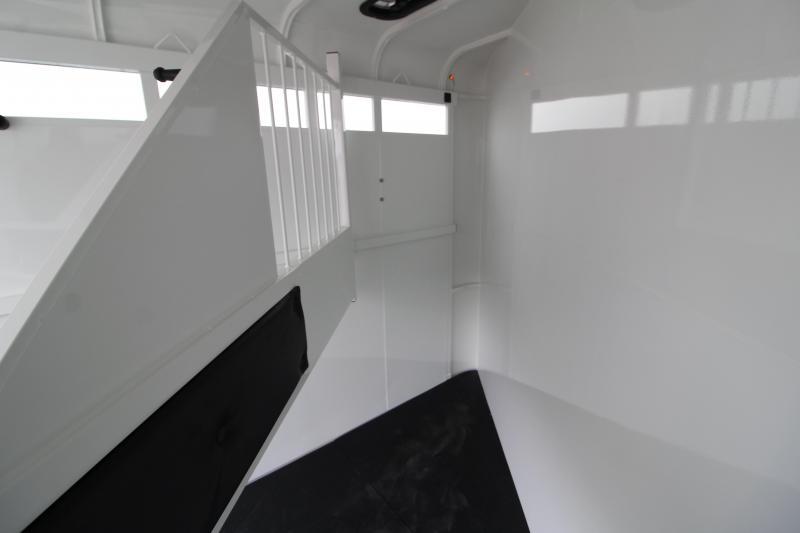2020 Thuro-Bilt Wrangler Plus 2 Horse Trailer- Single wall construction - Enclosed rear door - Camper side door w/ window