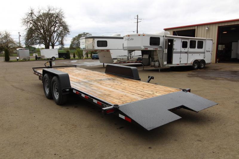 """NEW 2019 Eagle BLACK HAWK SERIES 7' x 20' Tandem Axle 14k Tiltdeck Flatbed Trailer - Brakes on both Axles -  30"""" Steel Rear Approach - Cushioning Hydraulic Cylinder - New Over Center Latch with Release - 2"""" x 6"""" Fir Decking PRICE REDUCED BY $200"""
