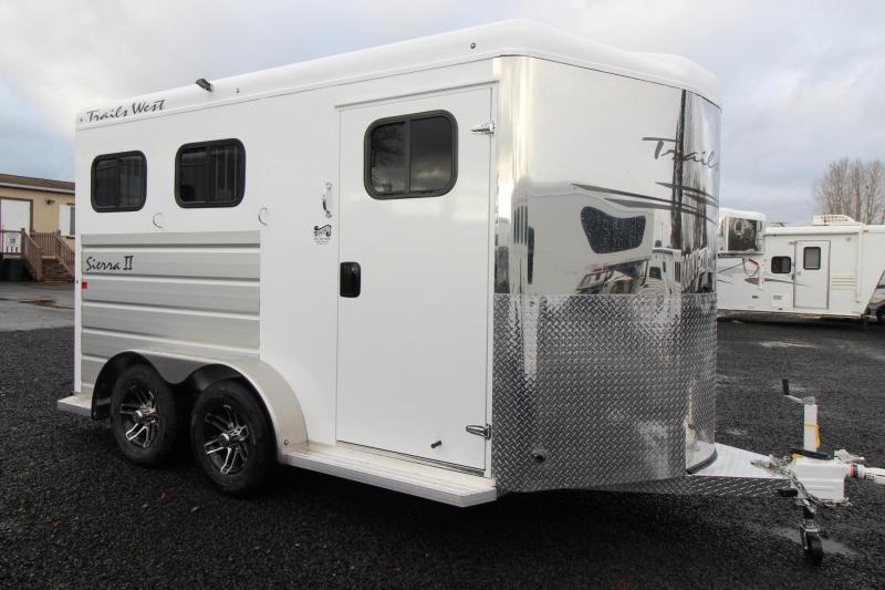 """2019 Trails West Sierra II 7'6"""" Tall 2 Horse Trailer PRICE REDUCED - Triple Wall Construction - Drop Down Feed Doors"""