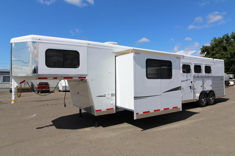 NEW 2019 Trails West Sierra 13' x 13' w/ Slide-out 3 Horse Trailer - Side Tack - Mangers - 8 Cubic Ft Refrigerator - Escape Door - 8' Wide 7'6 - Easy Care Flooring PRICE REDUCED BY $1000