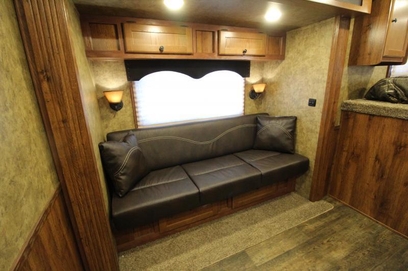 2018 Lakota Charger 3 Horse 11' SW Living Quarters Trailer - Slide Out - Sofa - All Aluminum Construction