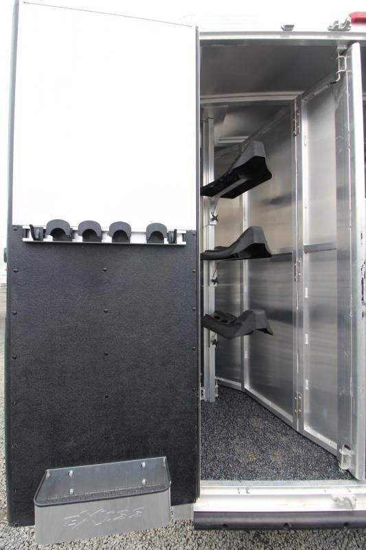 2019 Exiss Escape 7308 - 8' S.W.  Living Quarters 3 Horse - Easy Care Flooring - Upgraded Interior - Price Reduced $2600