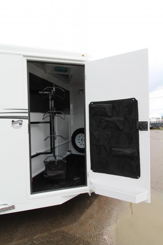 NEW 2019 Trails West Adventure MX 4 Horse Trailer - UPGRADED Windows in Rear Doors - Swing Out Saddle Rack - NEW Floor Plan with Larger Stalls!