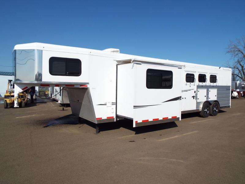 2019 Trails West Sierra 3 Horse Trailer - 13' x 13' LQ w/ Slide