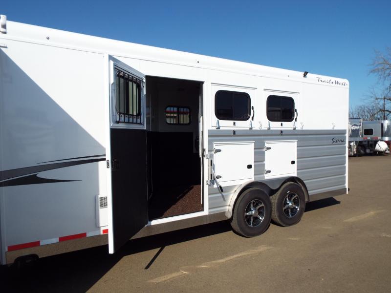 2019 Trails West Sierra 3 Horse Trailer - 13' x 13' LQ w/ Slide