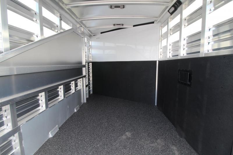 2020 Exiss Express CX 2 Horse Aluminum Trailer - Polylast Floor - Plexiglas Inserts - 2 Tier Saddle Rack