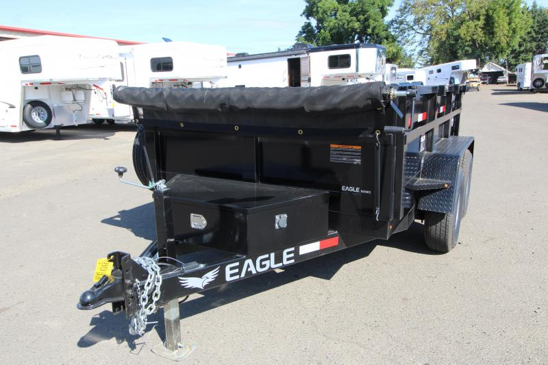 NEW 2019 Eagle Trailer 6' x 10' Tandem Axle Dump Utility Trailer- Roll Tarp - Rear Barn Doors - Ramps- Ramp Storage Underneath - Interior D Rings PRICE REDUCED BY $200