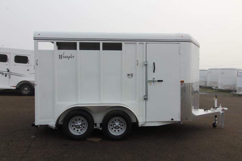 2020 Thuro-Bilt Wrangler 2 Horse Trailer- Single open rear door - Swing out saddle tree