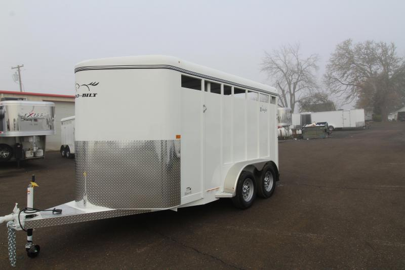 2020 Thuro-Bilt Wrangler 2 Horse Trailer- Single open rear door - Swing out saddle tree