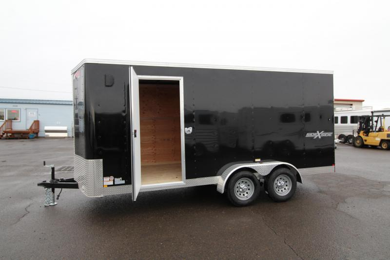 2020 Mirage Xpres 7' x 16' Enclosed Cargo Trailer- Side by Side Package - V Nose - Flat Roof