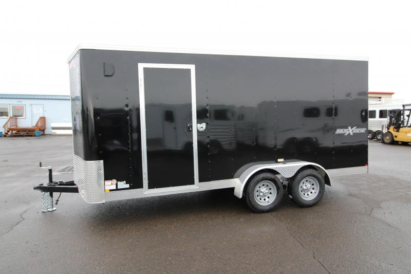 2020 Mirage Xpres 7 x 16 Enclosed Cargo Trailer- Side by Side Package - V Nose - Flat Roof