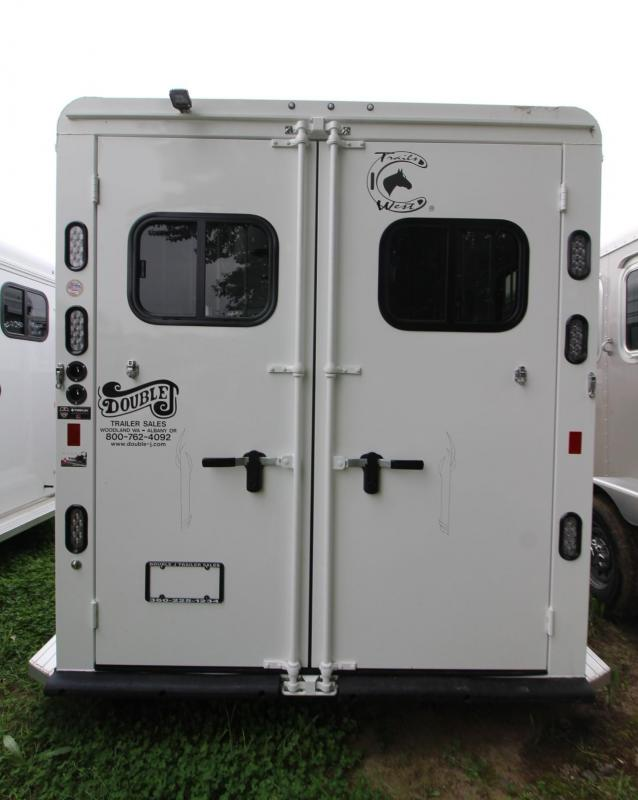 "2019 Trails West Sierra II 7' 6"" Tall 2 Horse Trailer w/ Escape Door - Convenience package - One piece aluminum roof"