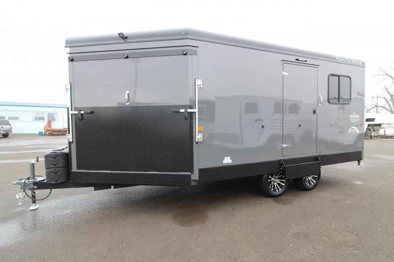 2020 Trails West Burandt RPM 20' Snowmobile Trailer - Lined and Insulated - Ducted Furnace - Track Melts - Kicker Speakers
